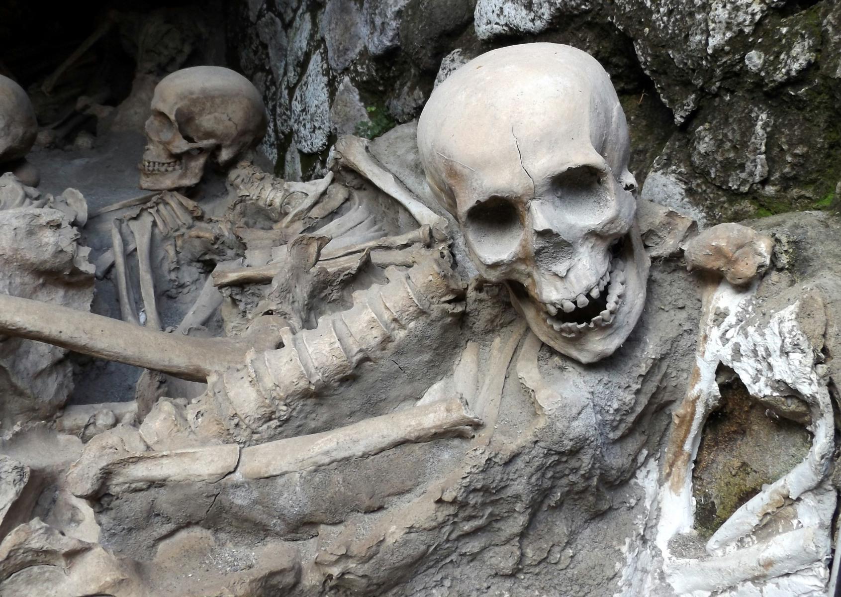 Herculaneum csontvázai