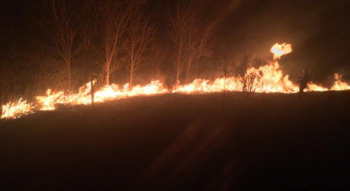 Tűz a Kis-Geténél